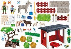 Playmobil 5531 - Tierpflegestation mit Freigehege - Back