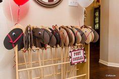Conjunto de cabezas de caballos de Hobby de 4 DIY palo cabeza