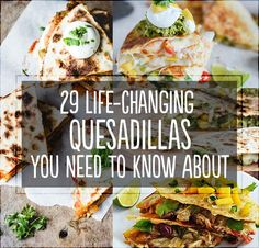 There isn't a single one of these that I wouldn't eat.  Change my life, Quesadillas!  CHANGE MY LIFE!  :)