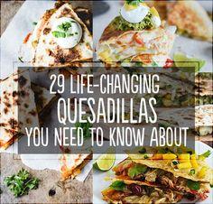 29 Life-Changing Quesadillas You Need To Know About- Cuban Quesadilla. Mexican Food Recipes, Great Recipes, Dinner Recipes, Favorite Recipes, Dinner Ideas, Think Food, I Love Food, Quesadillas, Comida Latina