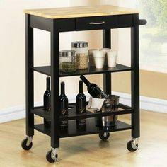 Ottawa Wood Top Kitchen Cart.