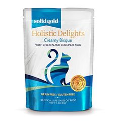 Solid Gold Holistic Delights Creamy Bisque Wet Cat Food Chicken  Coconut Milk All Life Stages 3oz Pouch 24 Count >>> Want to know more, click on the image.Note:It is affiliate link to Amazon.