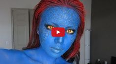 A How to Mystique (X-men) Make-up Transformation