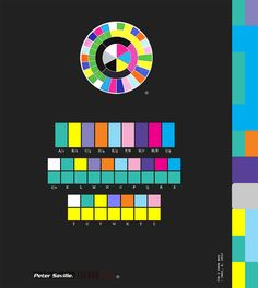 """""""The illustrious colour chart created by Peter Saville, which appeared in many of Factory records artworks of the The colour chart is also a coded alphabet which deciphers the title. Peter Saville, Graphic Design Print, Graphic Art, Typography Inspiration, Design Inspiration, Johannes Itten, Designers Republic, Neville Brody, Factory Records"""
