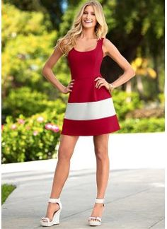 Fit and flare dress from VENUS women's swimwear and sexy clothing. Order Fit and flare dress for women from the online catalog or Fit N Flare Dress, Dressy Dresses, Cute Dresses, Tight Dresses, Spring Dresses, Stylish Dresses, Sundresses Women, Formal Dress Shops, Moda Masculina