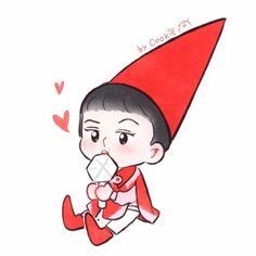 Kpop Exo, Exo Chanyeol, Exo Cartoon, Exo Stickers, Chibi Wallpaper, Exo Fan Art, Exo Do, Kpop Fanart, All Art