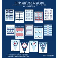 Airplane Birthday Party Printable Collection