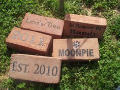 Custom Laser Engraved Brick / Marker by masondixonbricks on Etsy