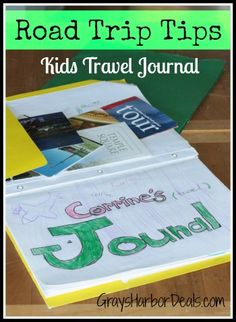 Road Trip Tips - Create a Kids Travel Journal for mapping & documenting the trip, staying entertained & learning a bit along the way!  Great post-trip keepsake! #roadtrips #frugalfamilyfun #travelingwithkids