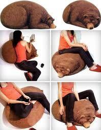 Big Sleeping Grizzly Bear Bean Bag // So #Baylor. #SicEm---------- want so bad!!!