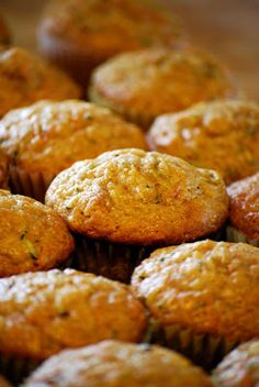 These zucchini muffins are the best because they are loaded with pineapple and carrots as well. The recipe is moist and dense