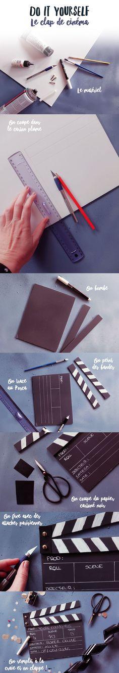 DIY : clap de cinéma - Poulette Magique - blog DIY & déco - Narbonne