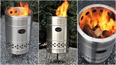 """Feuerhand """"Pyron"""" heißt die neue Feuertonne der aus Marburg stammenden und inzwischen sehr bekannten Firma Petromax. Die für ihre Starklichtlampen bekannte gleichnamige Firma Petromax hat mit der Marke Feuerhand eine neue Generation von Feuerstelle bzw. Feuerschale geschaffen. Neu ist bei Feuerhand aber nur die Pyron Feuertonne, denn die Firma ... Wood Gas Stove, Outdoor Gadgets, Stove Oven, Rocket Stoves, Bbq, Survival, Fire, Outdoor Decor, Allg"""