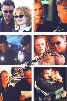 "diina:  "" I made a little Grillows (CSI, Grissom & Catherine) Collage.  """