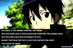 Sword Art Online - Kirito This sweetie. Who wouldn't marry him?