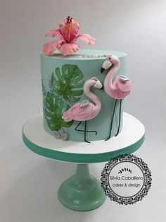 Flamingo cake!!! by Silvia Caballero