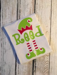 Elf Monogram Iron On, Elf, elf Decal, Notebook Decal, Binder Decal, Elf cup Decal, Monogram Decal, Girls, Boys,Christmas,shirt,iron on,vinyl by SoSouthernAccents on Etsy