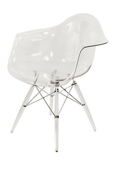"""Clear Mid-Century Eiffel Dining Arm Chair by Control Brand on @HauteLook 31.88"""" W x 24"""" L x 24.88"""" D"""