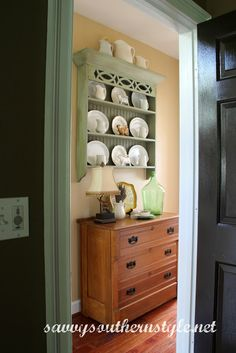 Savvy Southern Style Ten Favorite Painted Pieces & Primitive Plate Rack with Front Rails - Your Choice of Colors - FREE ...