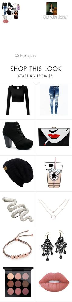 """Out with Jonah"" by ninamarais on Polyvore featuring Charlotte Olympia, Monica Vinader and Lime Crime"
