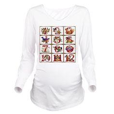 12 Days Of Christmas Long Sleeve #Maternity #TShirt  #Christmas #12DaysOfChristmas #Holiday #Gifts