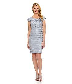 London Times Rosette ShutterTier Dress #Dillards