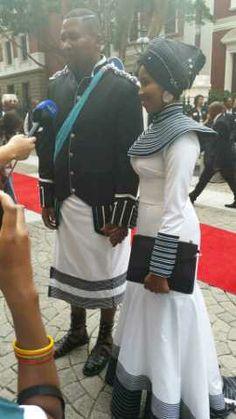 Nkosazana Nodiyala and Nkosi Mandla Mandela SONA15