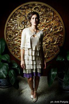 vestido tablas tejido en saten.    www.carososa.com