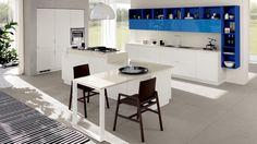 modern color combination modern kitchen trends 2018 - Home Decorations Elegant Kitchens, Beautiful Kitchens, Deco Design, Küchen Design, Design Ideas, Design Inspiration, Interior Design, Scavolini Kitchens, Kitchen Trends 2018
