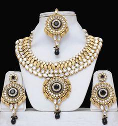 Kundan Costume Jewellery Set- Heavily Embellished