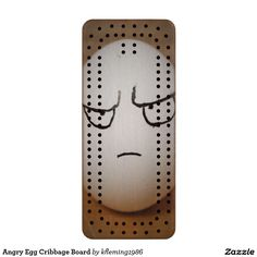 Angry Egg Cribbage Board
