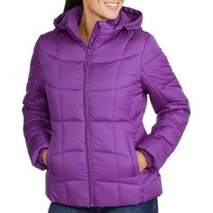 Faded Glory Women's Hooded Puffer Coat - Walmart.com