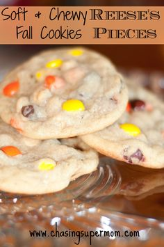 Soft & Chewy Reese's Pieces Fall Cookies - very tasty! Dough was very hard after being chilled, probably won't chill that long next time.
