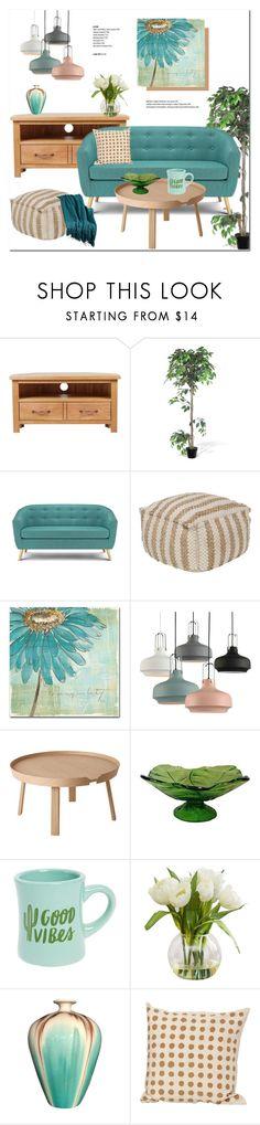 """Decor!"" by helenevlacho ❤ liked on Polyvore featuring interior, interiors, interior design, home, home decor, interior decorating, ALMERIA, Trademark Fine Art, Muuto and Blenko"