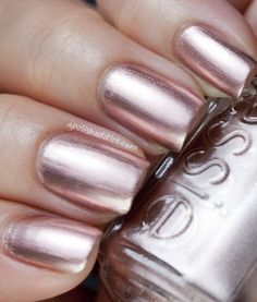 Rose gold nails! Essie Penny