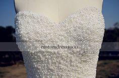 Sweetheart Beading Tulle Wedding by customdress1900 on Etsy