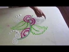 rangoli design | simple rangoli design | rangoli design with dots | how to make rangoli designs - YouTube