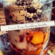 Coconut Mango PowerBerry Smoothie | Powercakes
