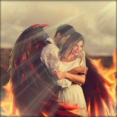Lucifer Wings, Chloe Decker, Tom Ellis Lucifer, Lauren German, Angel And Devil, Morning Star, Disney Marvel, Beautiful Artwork, Supernatural