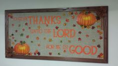 Fall bulletin board for our fellowship hall-