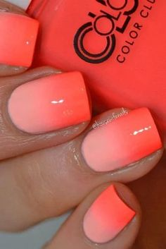 Best colorful and stylish summer nails ideas 34 manicure unghie sfumate gel Gorgeous Nails, Pretty Nails, Nails Kylie Jenner, Nagellack Trends, Bright Summer Nails, Nail Summer, Nail Colors Summer 2017, Bright Coral Nails, Summer Vacation Nails