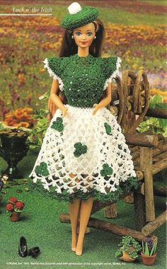 St Patricks crochet Patterns | X726 Crochet PATTERN ONLY Irish St. Patrick's Day Dress & Tam Fashion ...