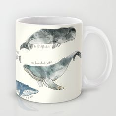 Buy Whales by Amy Hamilton as a high quality Mug. Worldwide shipping available at Society6.com. Just one of millions of products available.
