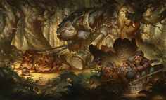 THE FOREST TROLL Watercolor on Bristol Justin Gerard #art #illustration #fantasy