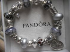 REDUCED For THE HOLIDAYS!! European Style Bead and Charm Bracelet by ESTHERADAJEWELRY, $79.99 AUTHENTIC PANDORA BRACELET!