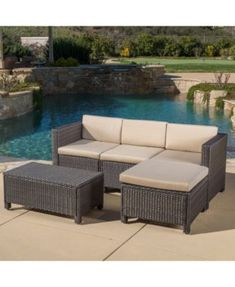 amazon com baner garden k55 br 6 pieces outdoor furniture rh pinterest com