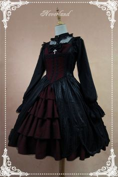 Light and Dark Team*** Gothic Lolita Normal Waist JSK Dress with Front Open Design$115.99 - My Lolita Dress