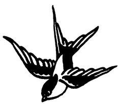 Swallow stencil