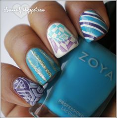 Zoya Robyn and Nail Art The birdie finger is awesome!!!
