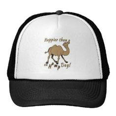 Happier than a Camel on Hump Day Trucker Hats Popular Colors, Trucker Hats, Camel, Hot Pink, Brown, Blue, Stuff To Buy, Shopping, Style
